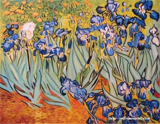 Iris falsi d 39 autore van gogh 70x90cm falsi for Quadri famosi da colorare van gogh